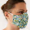 MASQUES MY MASK FLORAL JAUNE VERT SUR FOND BLANC - FASHION MASQUES - 3_4