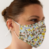 MASQUES MY MASK FLORAL KAKI JAUNE SUR FOND BLANC - FASHION MASQUES - 3_4