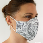 MASQUES MY MASK FLORAL NOIR SUR FOND BLANC – FASHION MASQUES – 3_4