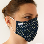 MASQUES MY MASK FLORAL SUR FOND BLEU MARINE – FASHION MASQUES – 3_4