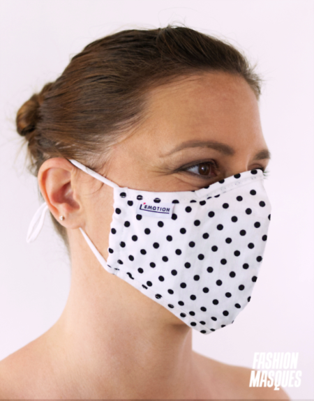MASQUES MY MASK POIS NOIRS SUR FOND BLANC - FASHION MASQUES - 3_4