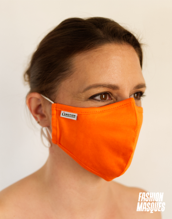 MY MASK ORANGE – L'ÉMOTION – 3/4