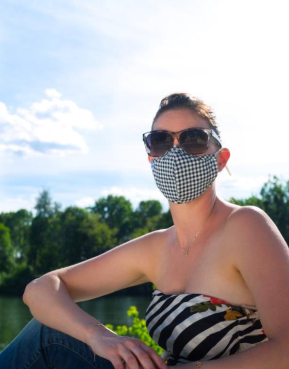 Masques PREMIUM Florence avec masque à carreaux - FASHION MASQUES
