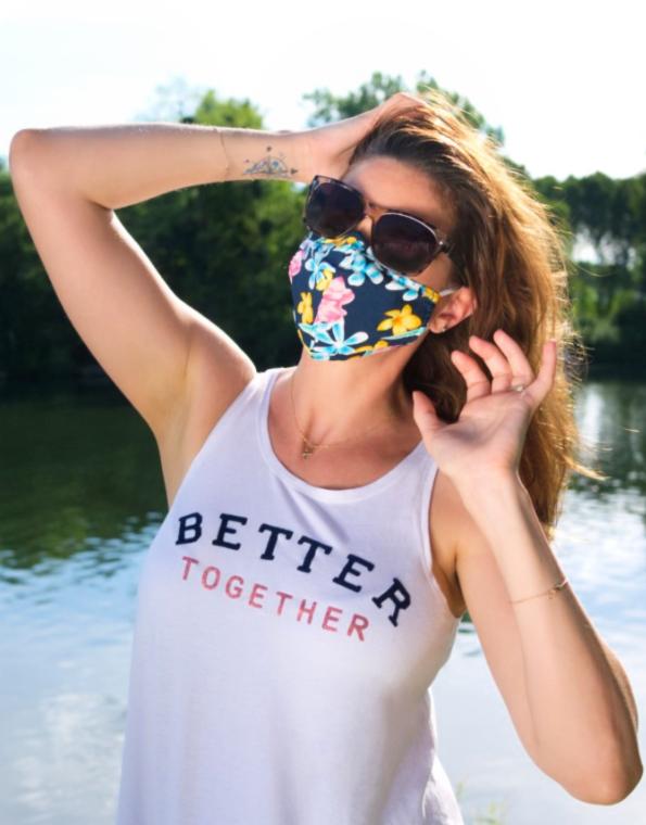 Masques PREMIUM Florence avec masque à fleurs - FASHION MASQUES
