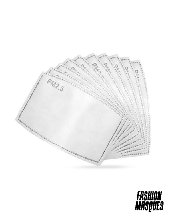 PACK DE 10 FILTRES PM2.5 - FASHION MASQUES